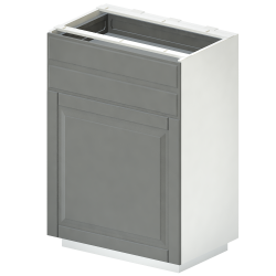METOD Base Cab Sink Waste Sorting White Veddinge Gray