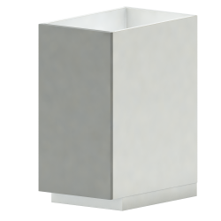 METOD MAXIMERA Base Cab Sink 2 Fronts 2 Drawers White Veddinge Gray