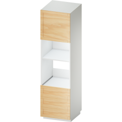 METOD MAXIMERA High Cab for Micro Combi 4 Drawers White Voxtorp Walnut