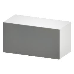 METOD Wall Cabinet with Shelves 2 Doors White Veddinge Gray