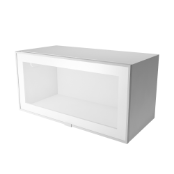 METOD Wall Cabinet with Shelves Glass Doors White Jutis Frosted Glass