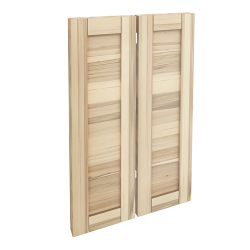 TORHAMN 2 Door Corner Base Cabinet Set Natural Ash