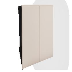 VOXTORP 2 Door Corner Base Cabinet Set Right hand Light Beige