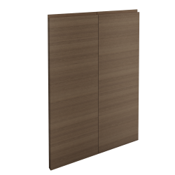 VOXTORP 2 Door Corner Base Cabinet Set Right hand Walnut effect