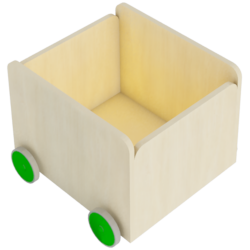 FLISAT Toy Box with Wheels