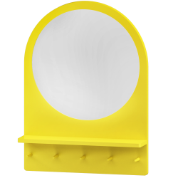 SALTROD Mirror with Shelf and hooks