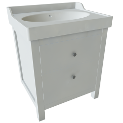 HEMNES RATTVIKEN 2 Drawer Washbasin Unit