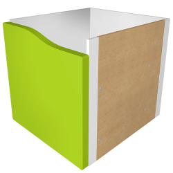 KALLAX Block 1 Light green Drawer
