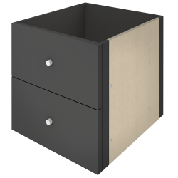 KALLAX Block 2 Drawers Brown Black