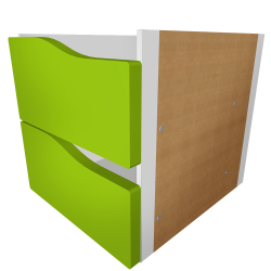 KALLAX Block 2 Drawers Light green