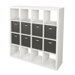 KALLAX Shelf with 8 Accessories Black White
