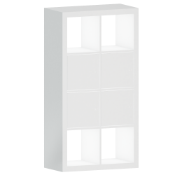 KALLAX Shelf with White Doors 77x147