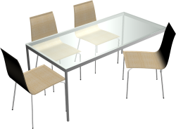 Torsby Table and 4 Chairs