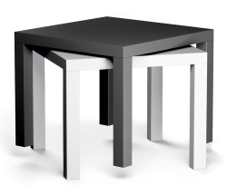 LACK Side Table Black and White