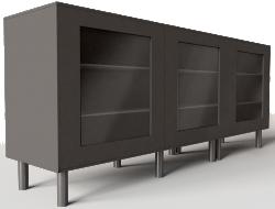 BESTA Storage Combination with Doors Black