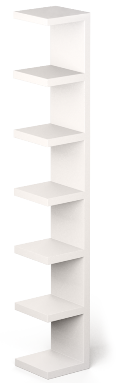 LACK Wall Shelf Unit White