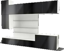 BESTA TV Panel with Media Storage Black