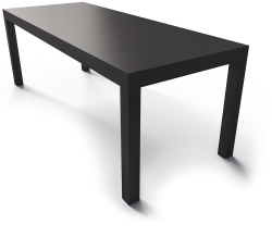 Lack Black Table