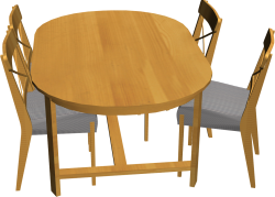 Leksvik Table and 4 Ingolf Chairs