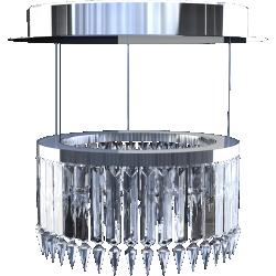 Lady Crinoline chandelier Classic 1 module