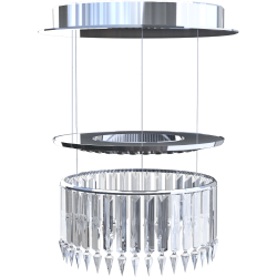 Lady Crinoline Comete 1 module LED chandelier