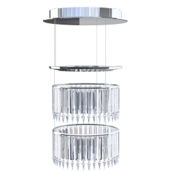 Lady Crinoline Comete 2 level LED chandelier