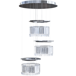 Lady Crinoline chandelier Comete LED 3 modules