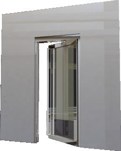 Porte vitree EI60 NEO 1 vantail Simple action ou va et vient