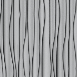 Alucobond Design Silver Curtain D0037