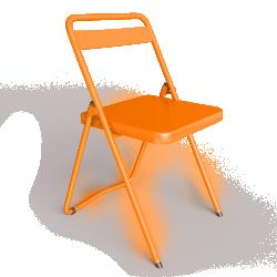 Chaise DS No 7 acier orange RAL2004