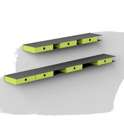 Matiere Grise Etagere rail a tiroirs alize