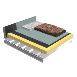 Green roof Canopia Vegetapis insulation multi use solid steel