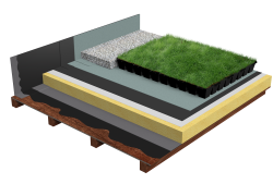 Green roof Canopia Jardibac insulation multi use timber