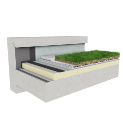 Green roof Canopia Naturapente insulation multi use concrete