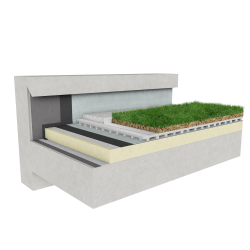 Green roof Canopia Vegetapis insulation multi use concrete