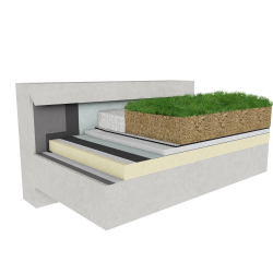 Green roof Canopia Expert insulation multi use concrete