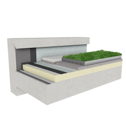 Green roof Canopia Jardibac insulation stormwater retention multi use concrete