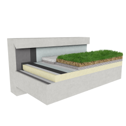 Green roof Canopia Naturapente insulation stormwater retention multi use concrete