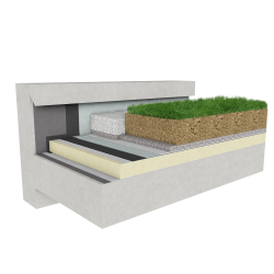 Green roof Canopia Expert insulation stormwater retention multi use concrete