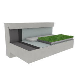 Green roof Canopia Jardibac multi use concrete
