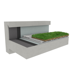 Green roof Canopia Naturapente multi use concrete