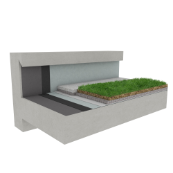 Green roof Canopia Naturapente stormwater retention multi use concrete