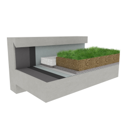 Green roof Canopia Expert stormwater retention multi use concrete