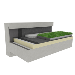 Green roof Canopia Jardibac insulation multi use Silver concrete