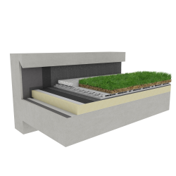 Green roof Canopia Naturapente insulation multi use Silver concrete