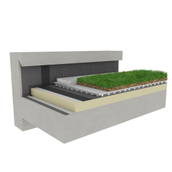 Green roof Canopia Vegetapis insulation multi use Silver concrete