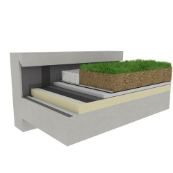 Green roof Canopia Expert insulation multi use Silver concrete