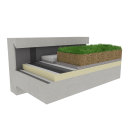 Green roof Canopia Expert insulation stormwater retention multi use Silver concrete