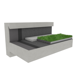 Green roof Canopia Jardibac multi use Silver concrete