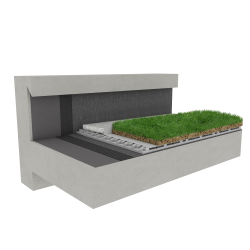 Green roof Canopia Naturapente multi use Silver concrete